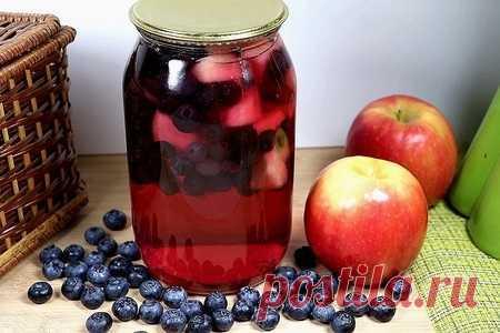 Компот из голубики с яблоком на зиму | Вкусные кулинарные рецепты