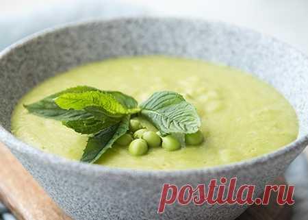 Суп веганский из зеленого горошка
