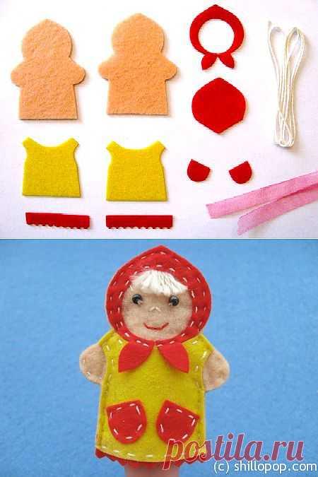 """Развивающие игрушки от Shill O'POP » Мастер класс """"Машенька"""" – игрушка для пальчикового театра"""