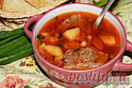Kuban borsch - the most tasty and fragrant! Collect a family behind a dining table with borsch and garlick pampushkas, it is sure, all members of household will tell you for this dish many thanks!