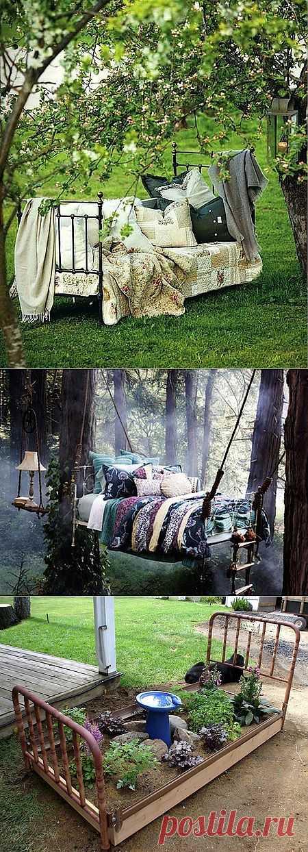 Что сделать со старой кроватью: 6 идей