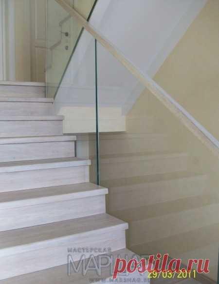 Лестницы, ограждения, перила из стекла, дерева, металла Маршаг – Самонесущие перила из стекла Маршаг