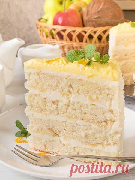Рецепт кокосового торта с лимонным курдом на Вкусном Блоге