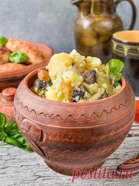 Рецепт толченого картофеля с лесными грибами на Вкусном Блоге