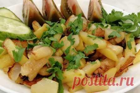 Жареная картошка   Вкусные кулинарные рецепты