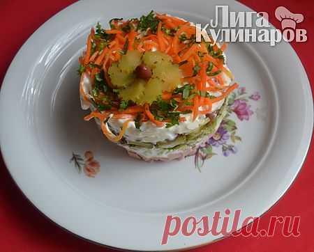 Салат Каменный цветок — рецепт пошаговый от Лиги Кулинаров