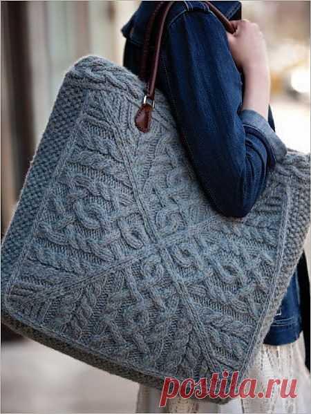 Вязаная сумка / Вязание / Модный сайт о стильной переделке одежды и интерьера
