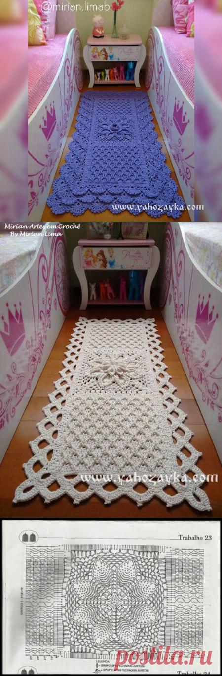 El tapiz pequeño rectangular por el gancho el esquema. El tapiz pequeño hermoso para el suelo por las manos   Mí el Ama