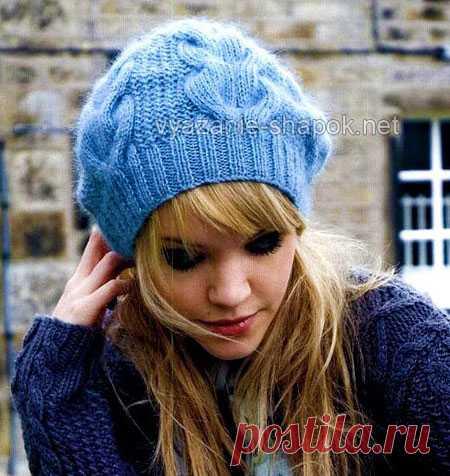 вязаные зимние шапки вязание шапок женские шапки спицами и