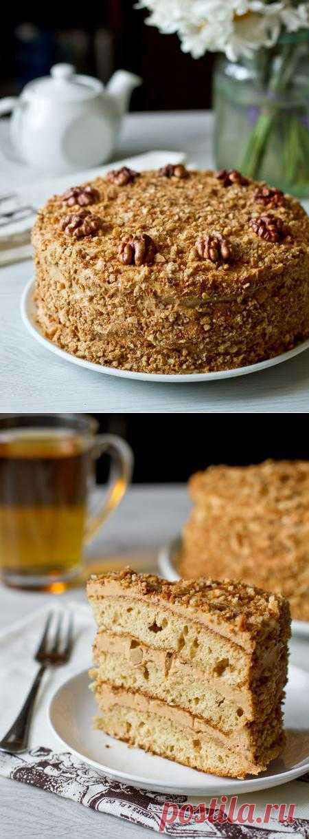 Пошаговый фото-рецепт медового торта с грецкими орехами   Выпечка   Вкусный блог - рецепты под настроение