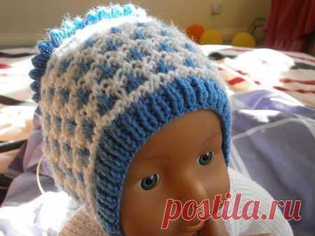 вязаные шапочки для новорожденных как связать детские шапки спицами