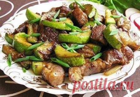 Рецепт приготовления свинины с кабачками