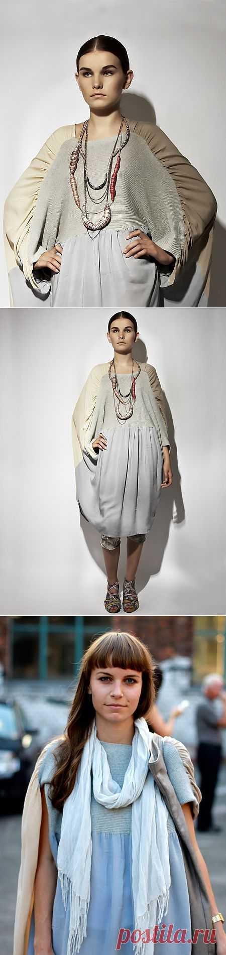 Вязаное + шифоновое... Продолжение / Фактуры / Модный сайт о стильной переделке одежды и интерьера