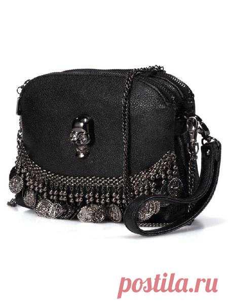Декор сумки из монисто