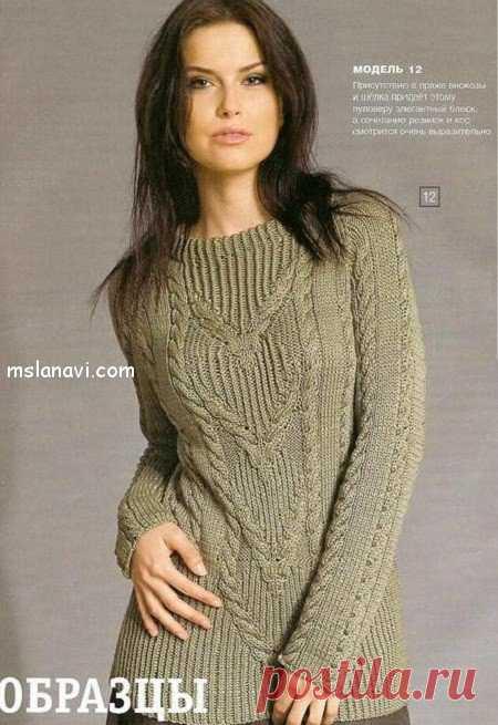 Пуловер спицами с фигурными косами - Вяжем с Лана Ви Такой элегантный пуловер спицами с фигурными косами и рукавом реглан, на мой взгляд, всегда останется вне моды. Он настолько удачный, что, когда бы вы его не связали, пуловер наверняка привлечет внимание окружающих. В этой модели часто используются скрещенные петли, так что, если вы начинающая вязальщица, то видео мастер-класс ниже поможет вам их освоить. Пуловер спицами […]