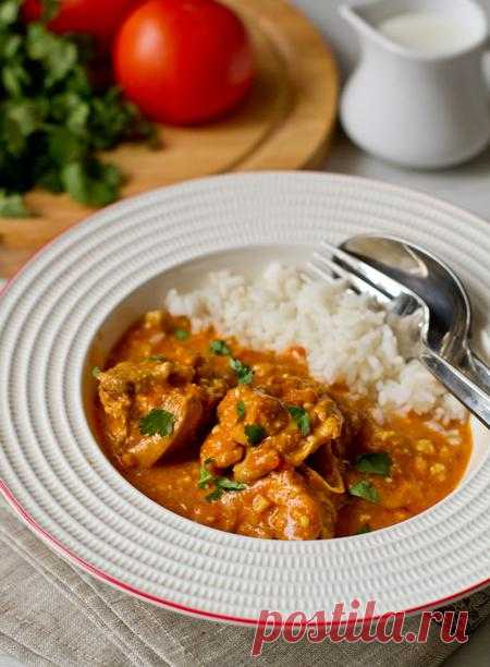 Пошаговый фото-рецепт западноиндийского карри из курицы.