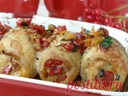 Рулетики из свинины с начинкой. — Sloosh – кулинарные рецепты