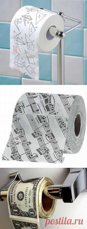 Не теряем времени. Складываем оригами прямо там. Самая интересная туалетная бумага (20 фото)