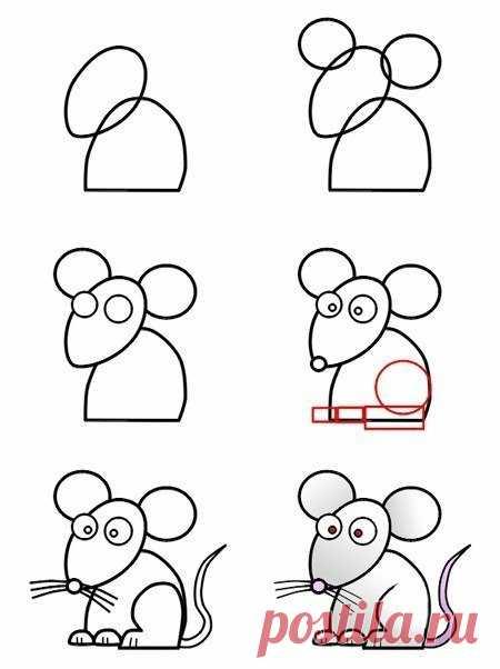 Рисуем мультяшных зверюшек поэтапно. — Сделай сам, идеи для творчества - DIY Ideas