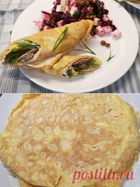 Яичные блинчики со шпротами и сливочным сыром   Вкусные кулинарные рецепты