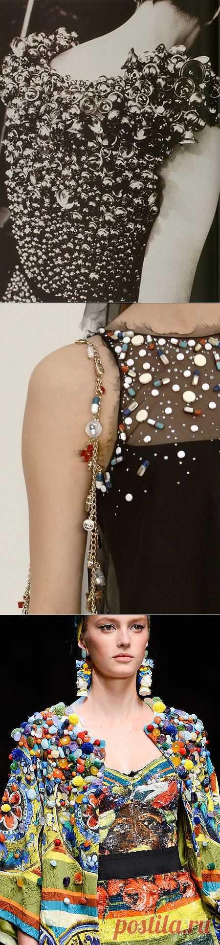Четыре примера креативного декора с подиумов / Креатив в моде / Модный сайт о стильной переделке одежды и интерьера