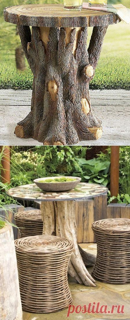 Идеи деревянных столов для дачи и балкона — Сделай сам, идеи для творчества - DIY Ideas