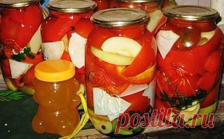 Салат из перца и помидоров в медовой заливке http://dom-ozhag.mirtesen.ru/blog/43463395402