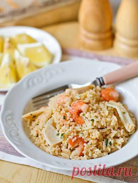 Пошаговый фото-рецепт пилава с морепродуктами | Вторые блюда | Вкусный блог - рецепты под настроение