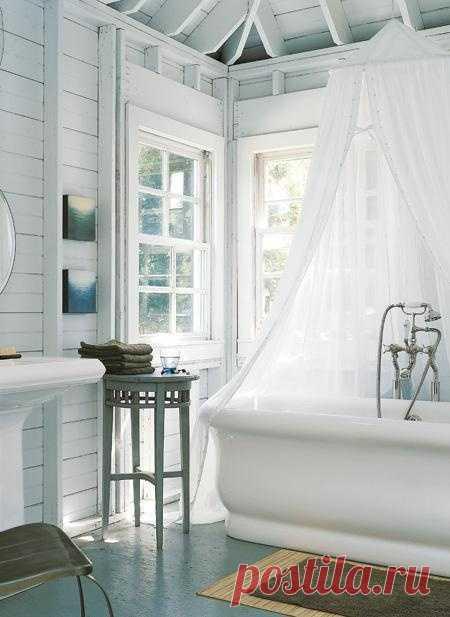 ¿Los cuartos de baño blancos - la banalidad?