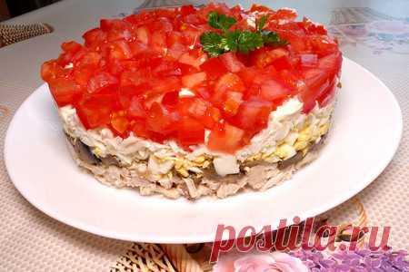 Салат красная шапочка | Вкусные кулинарные рецепты