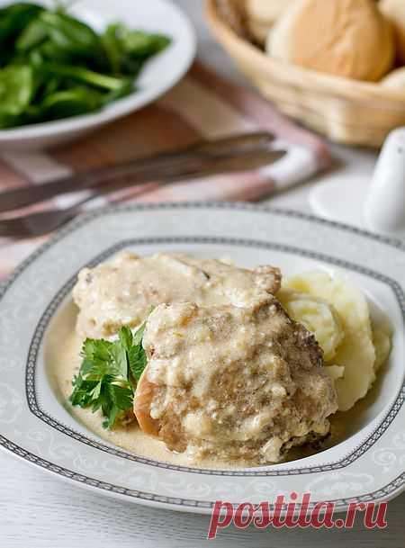 Курица в сливочно-луковом соусе | Вкусный блог - рецепты под настроение.