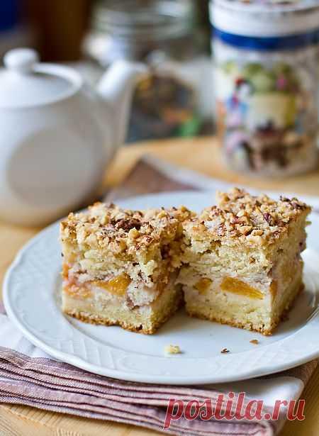Персиковый пирог на сметане | Вкусный блог - рецепты под настроение
