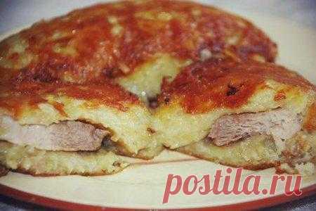 Meat in a potato crust.