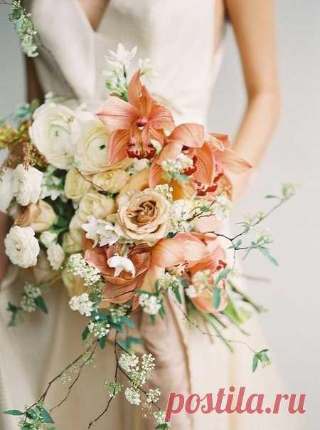 La ternura en el ramo de la novia