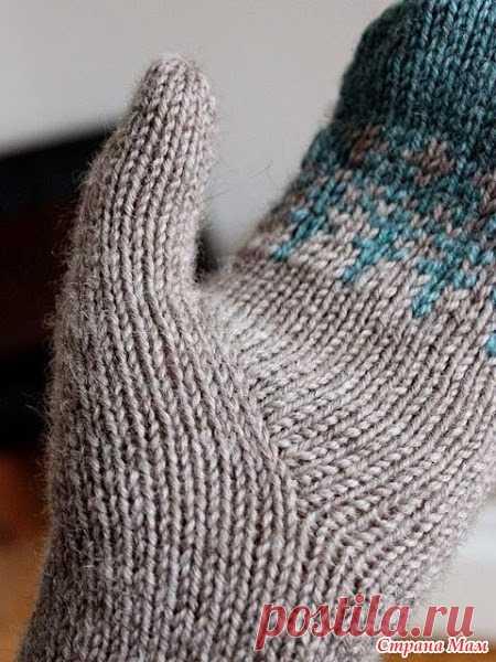 Как вязать большой палец варежки клином. ВНИМАНИЕ!!! - очень много фото
