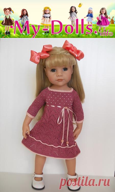 платье для куклы Gozt схемы для вязания спицами и крючком мастер