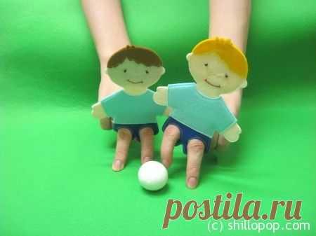футболисты пальчиковая игрушка1