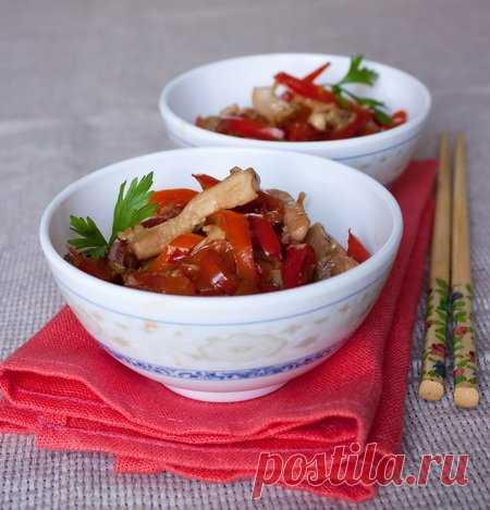 Рецепт стир-фрая из курицы с перцами