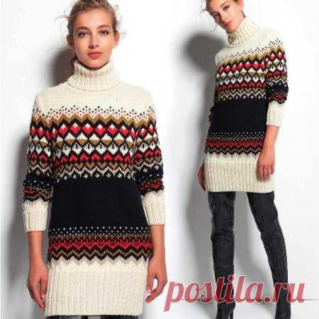 Длинный свитер или мини платье