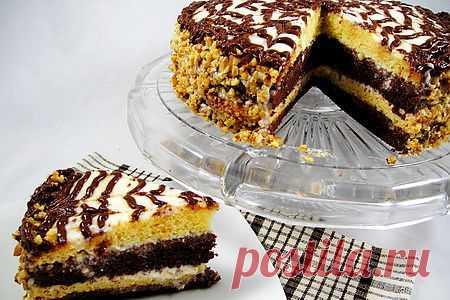 Торт «День и ночь» в СВЧ