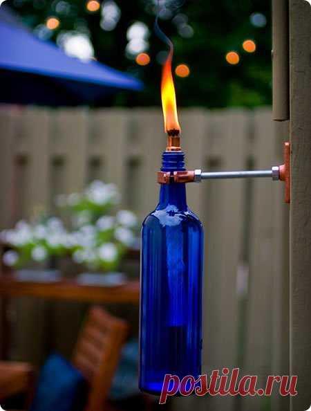 газовая горелка, а можно и настольную зажигалку сделать