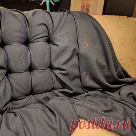 Перетяжка дивана своими руками: современная мебель без лишних затрат