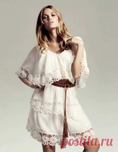 Los vestidos en el estilo boho: de tarde y de boda, veraniego, de lino y tejido, para completo
