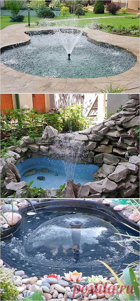 Оборудование для создания фонтана на даче.