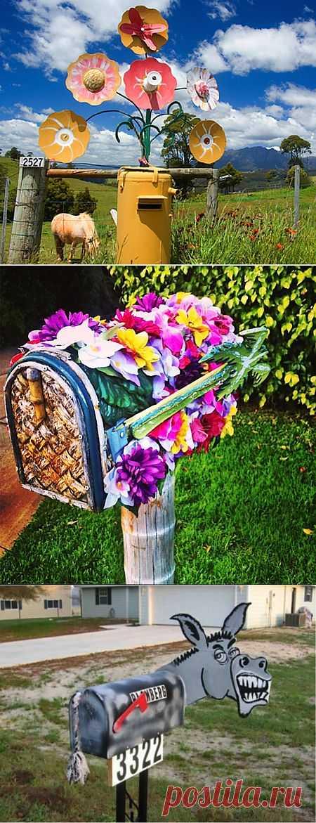 10 идей для креативного почтового ящика на даче