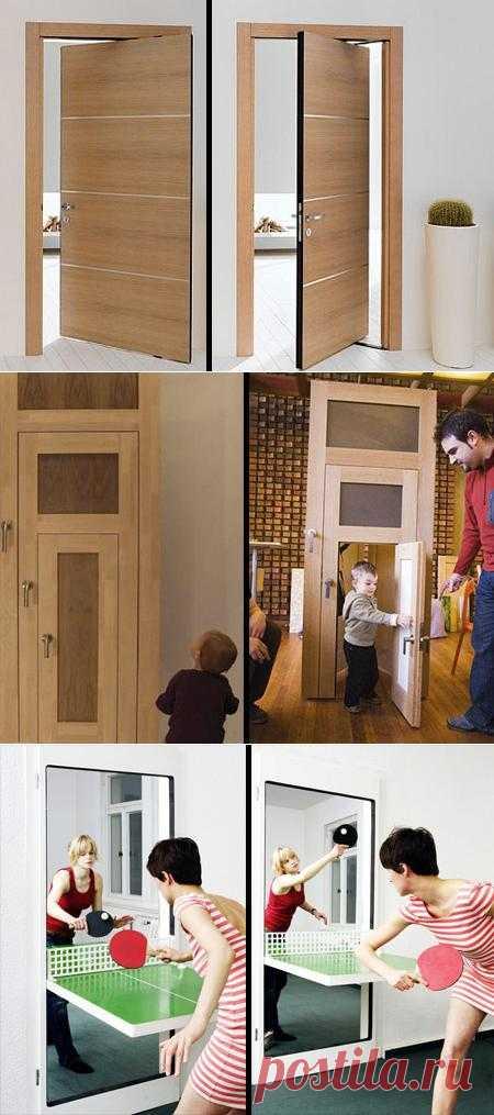 Межкомнатные двери могут сэкономить пространство за счет дополнительных функций или современной фурнитуры.