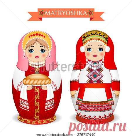 Russian Dolls - Matryoshka. Vector Illustration - 276717440: Shutterstock