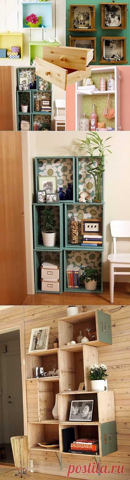 Ящики от старых шкафов в интерьере (подборка) / Мебель / Модный сайт о стильной переделке одежды и интерьера