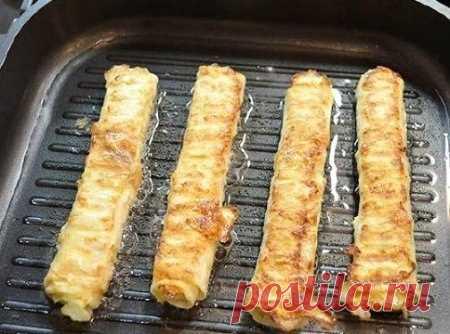 Как приготовить жаренные трубочки из лаваша - рецепт, ингредиенты и фотографии