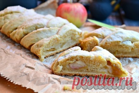 Рецепт творожного пирога с яблоками в духовке
